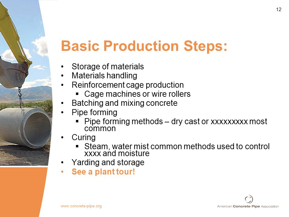 Rinker Materials Concrete Pipe Handling : Reinforced concrete pipe attributes ppt video online