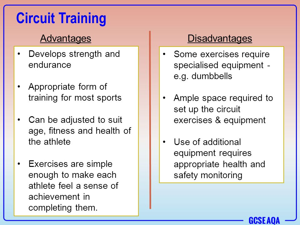 Exercise Advantage And Disadvantage