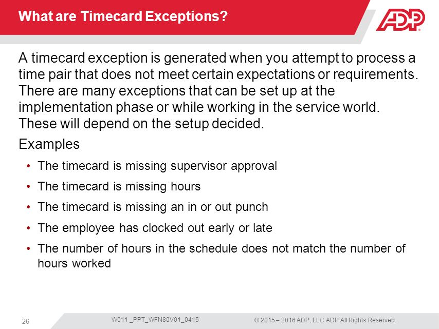 timecard hours