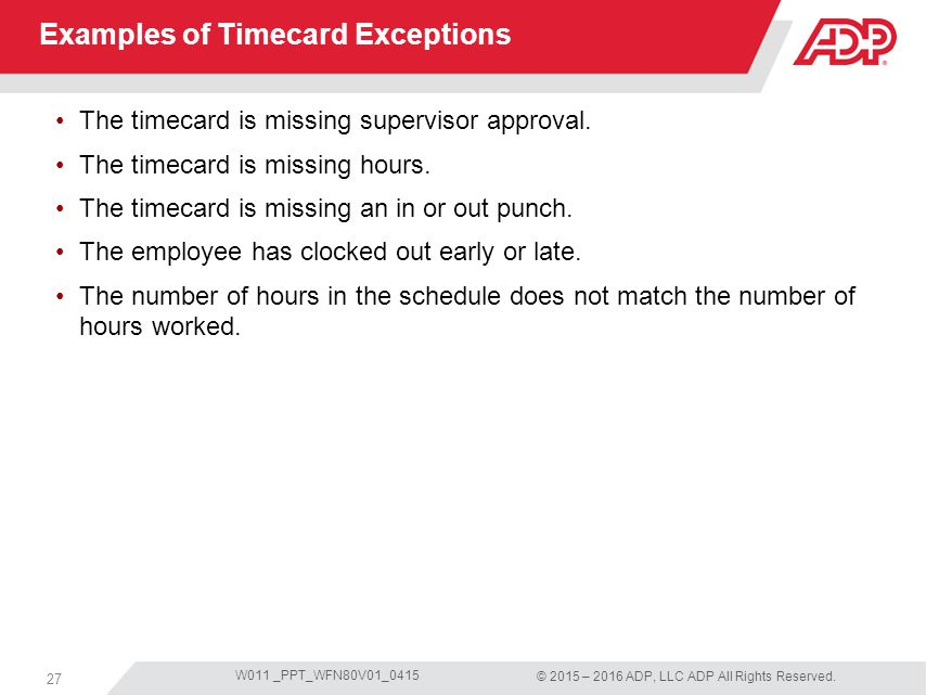 time card examples