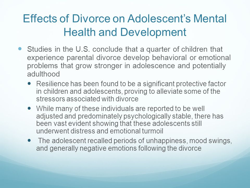the emotional psychological and physical effects of divorce on the development of children Is the prevalence and devastating effects of father absence in children physical and emotional security (children divorce, children need.