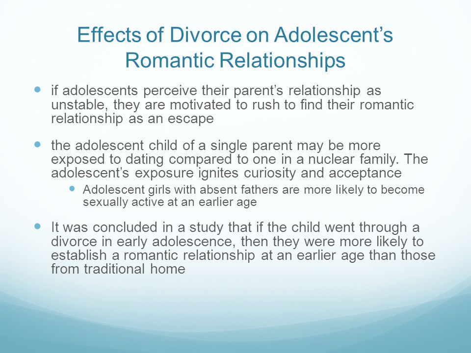 adolescent dating and romantic relationships Service community-based agencies — said that they primarily see female victims, teen dating violence: a closer look at adolescent romantic relationships.