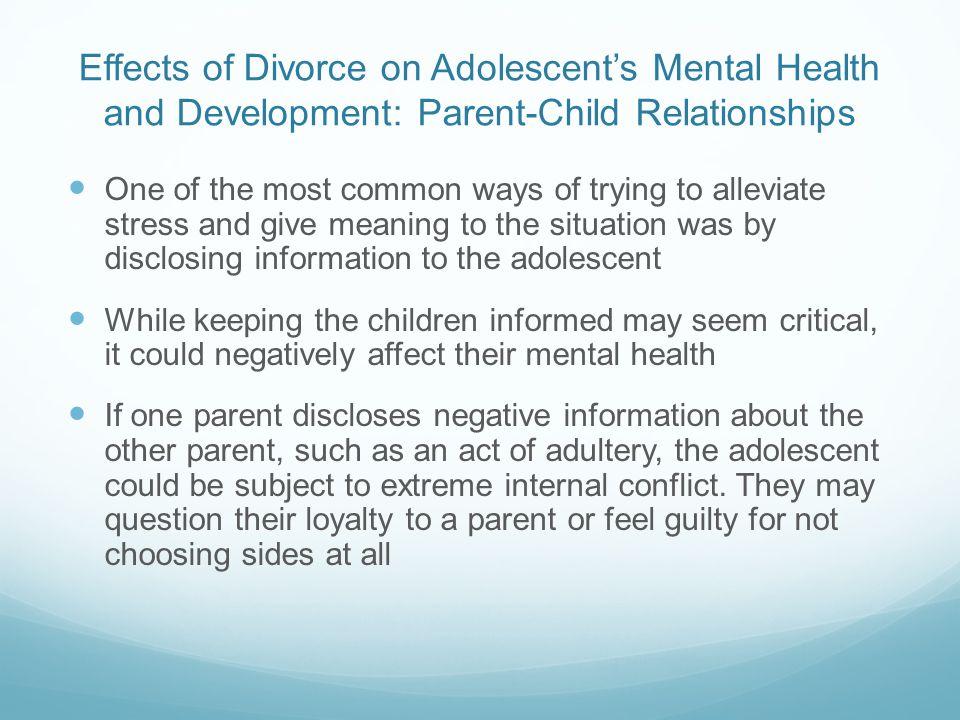 impact of divorce on children
