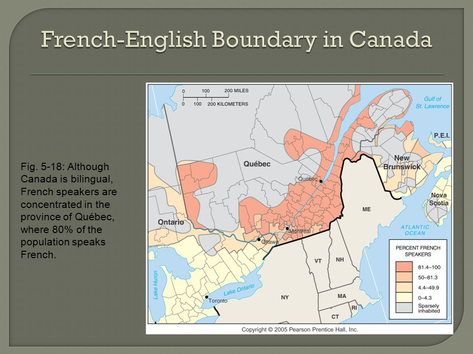 French-English Boundary in Canada