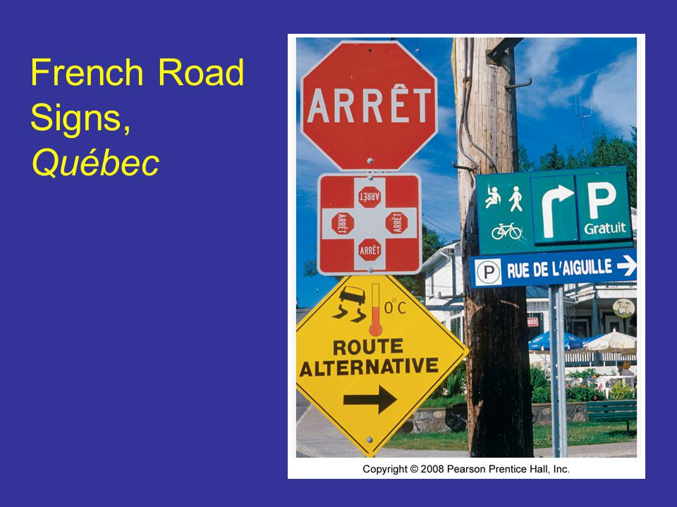 French Road Signs, Québec