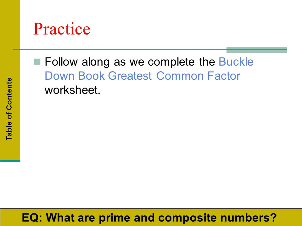 Greatest Common Factor Least Common Multiple Prime Factorization – Greatest Common Factor Worksheet