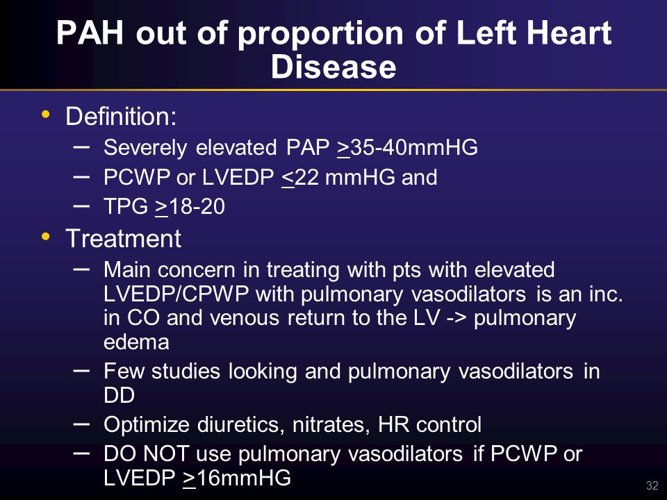 Portopulmonary Hypertension (PAH in the setting of liver ...