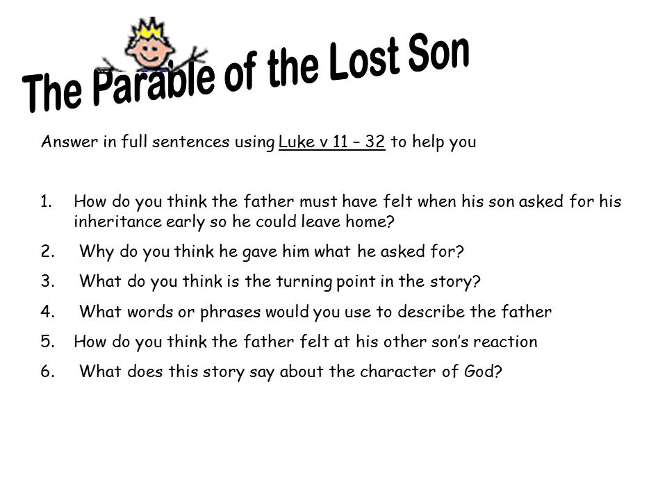 forgiveness of god in the parable of the lost son The story of the prodigal son, also known as the parable of the lost son, follows the parables of the lost sheep and the lost coin it is not god's forgiveness that we.