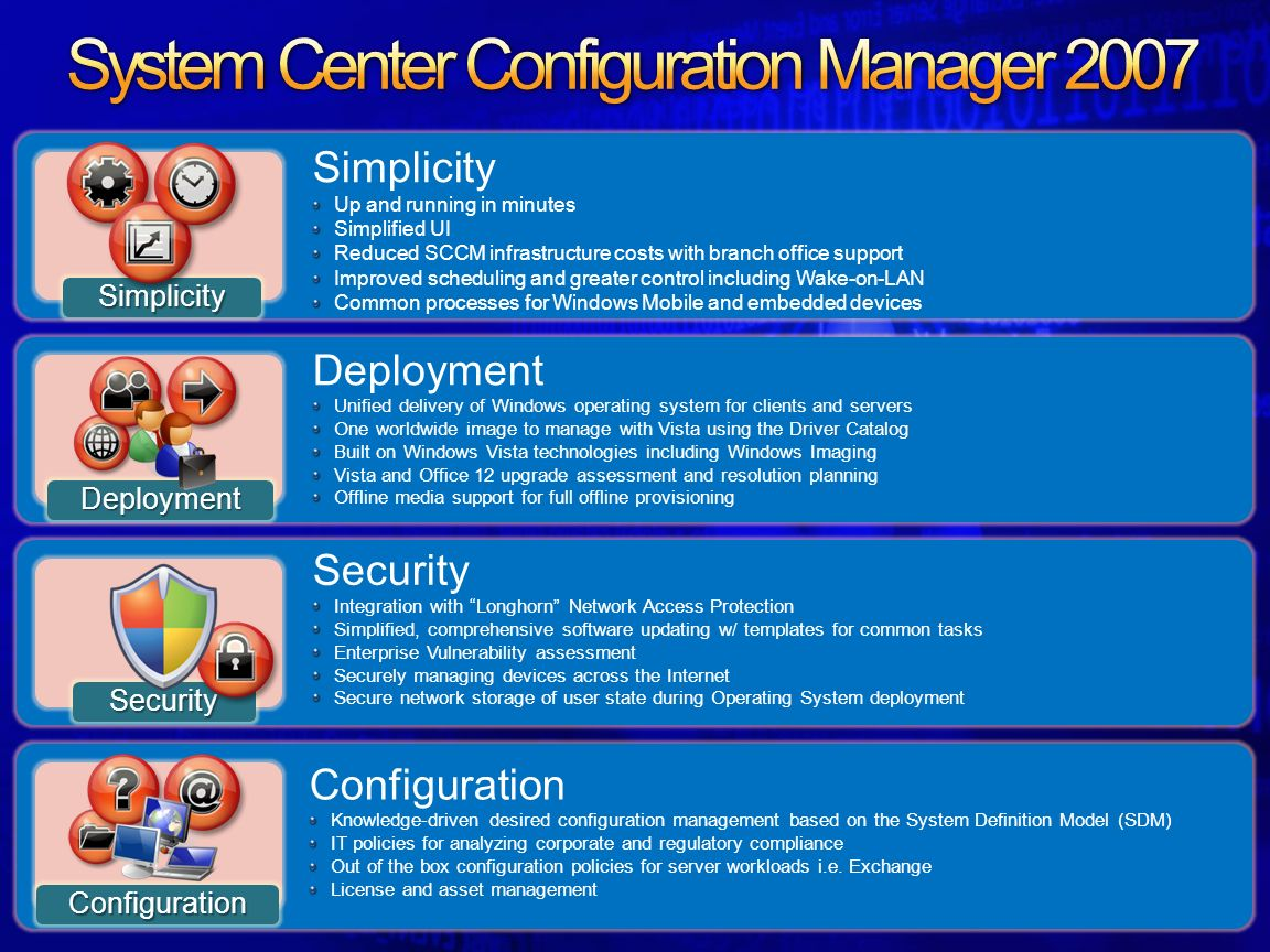 System center configuration manager 2007 technical - Office 2007 supported operating systems ...