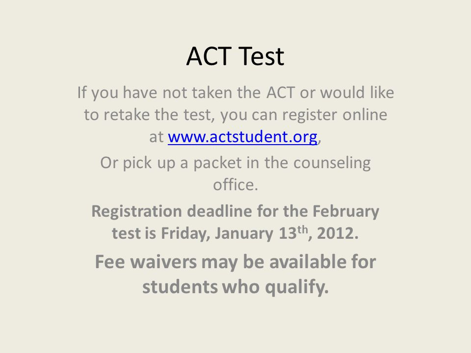 Fee waivers may be available for students who qualify.
