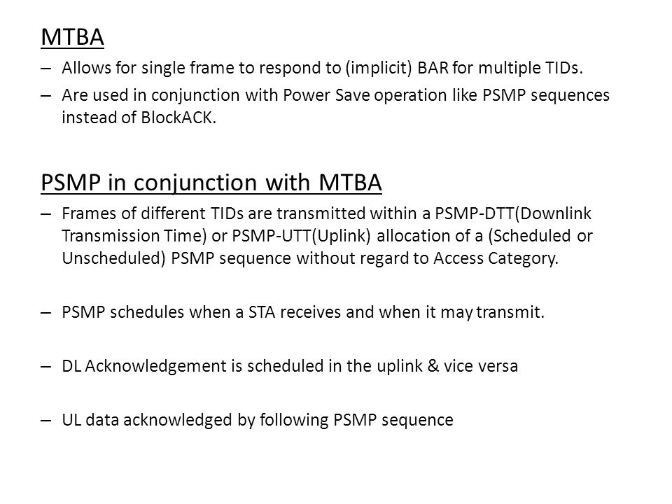PSMP in conjunction with MTBA