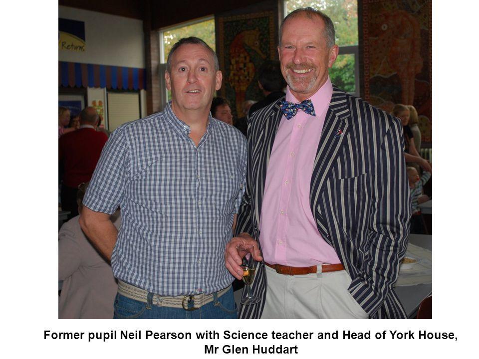 Former pupil Neil Pearson with Science teacher and Head of York House, Mr Glen Huddart