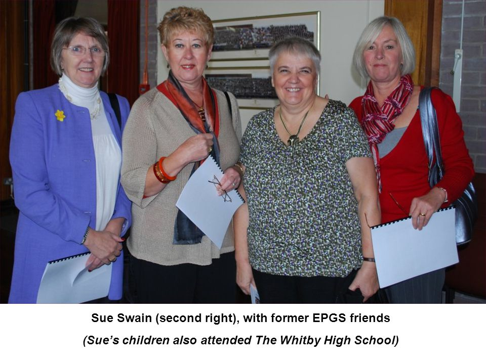(Sue's children also attended The Whitby High School)