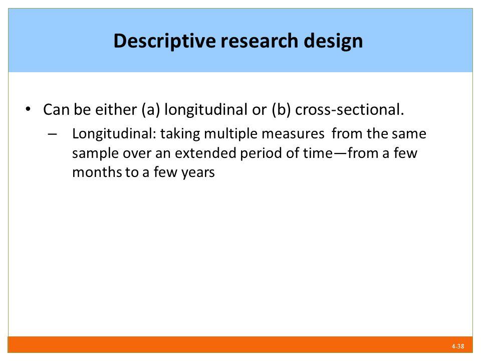 Examples of descriptive research