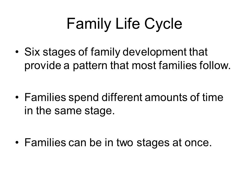 family life cycle stages pdf