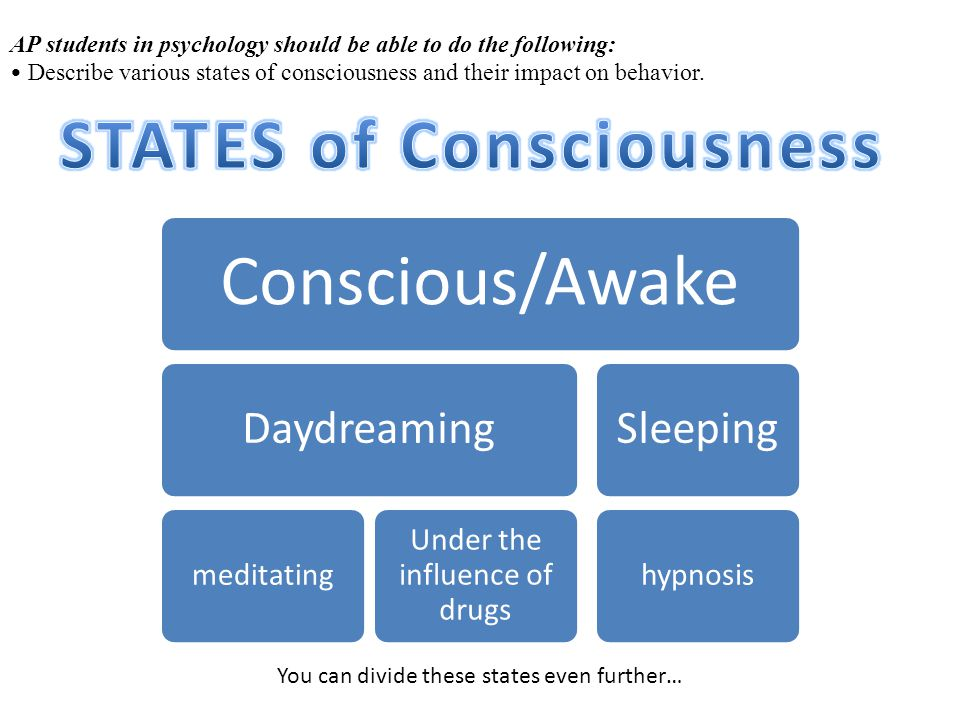 ap psychology states of consciousness essay
