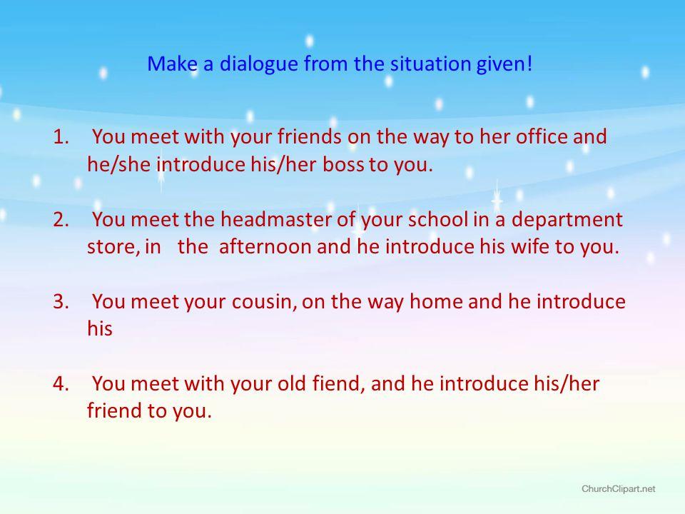 how to make a dialogue