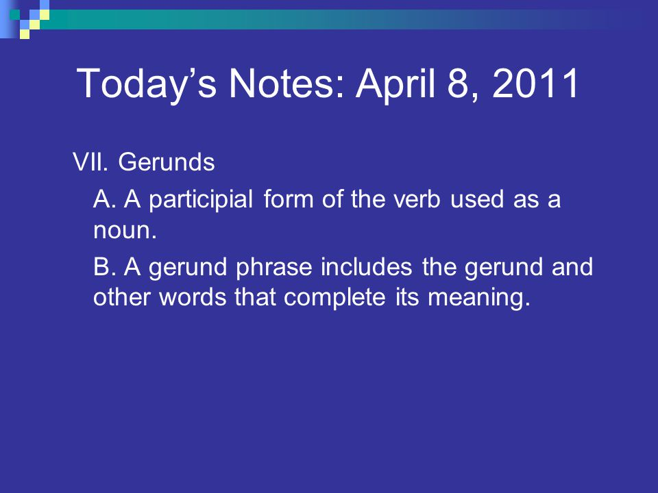 Gerunds and Gerund Phrases ppt video online download – Gerunds and Gerund Phrases Worksheet