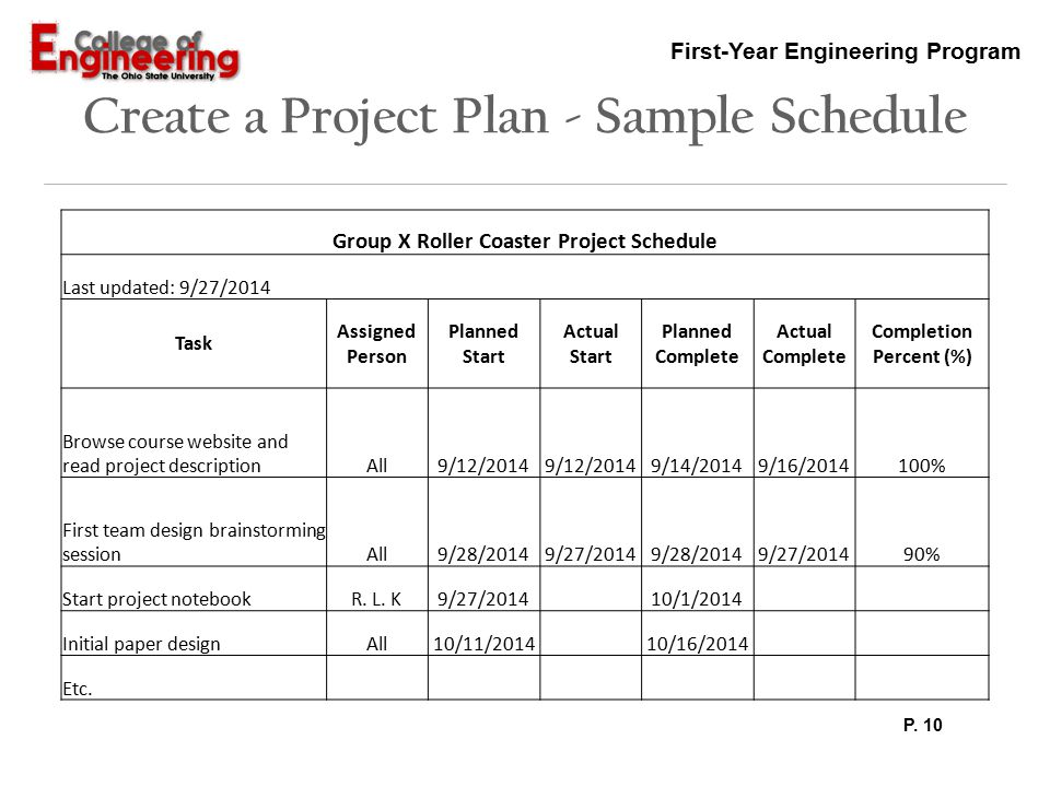Project Schedule Sample. Stay On Schedule With Checklists And