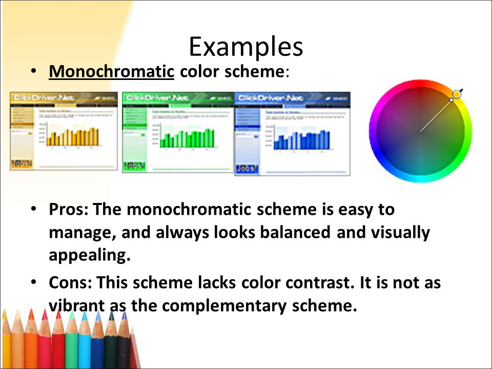 Monochromatic Color Scheme Definition color selection in web design - ppt download