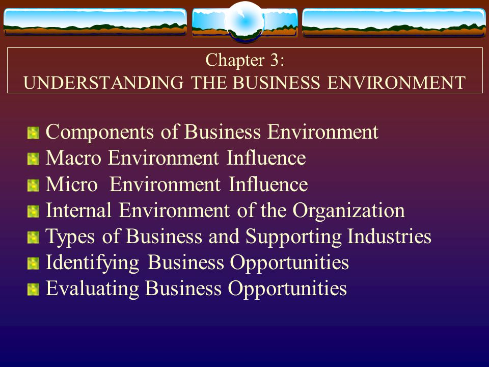 components business environment essay The business environment was very professional and amazing and made everyone feel as though they were a part of something special.