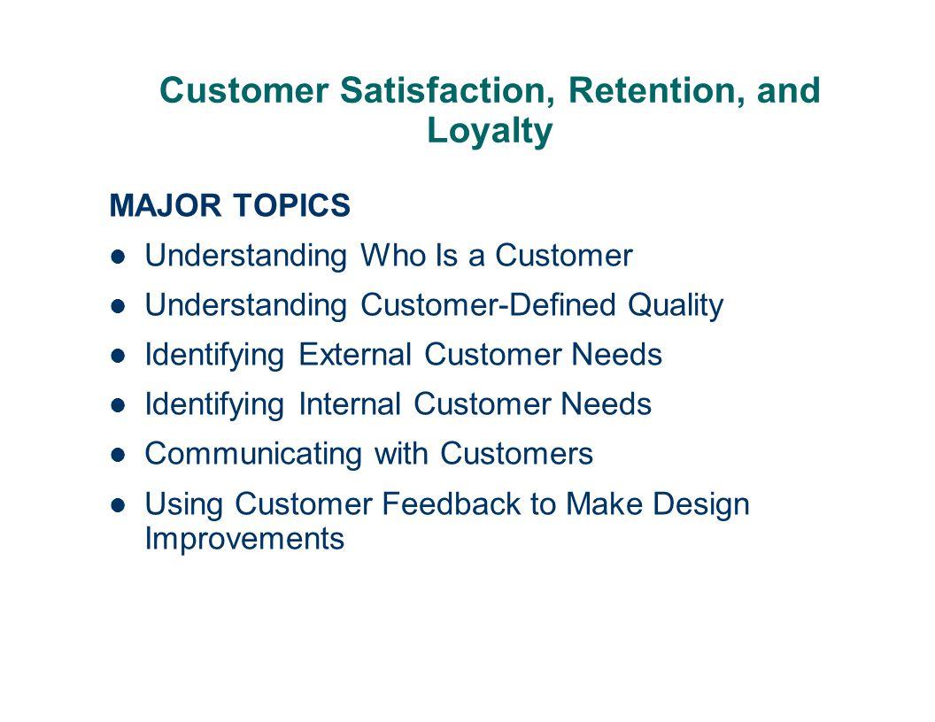 external customers needs