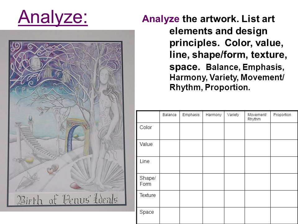 Shape Form And Space In Art : Art criticism process drill ppt video online download