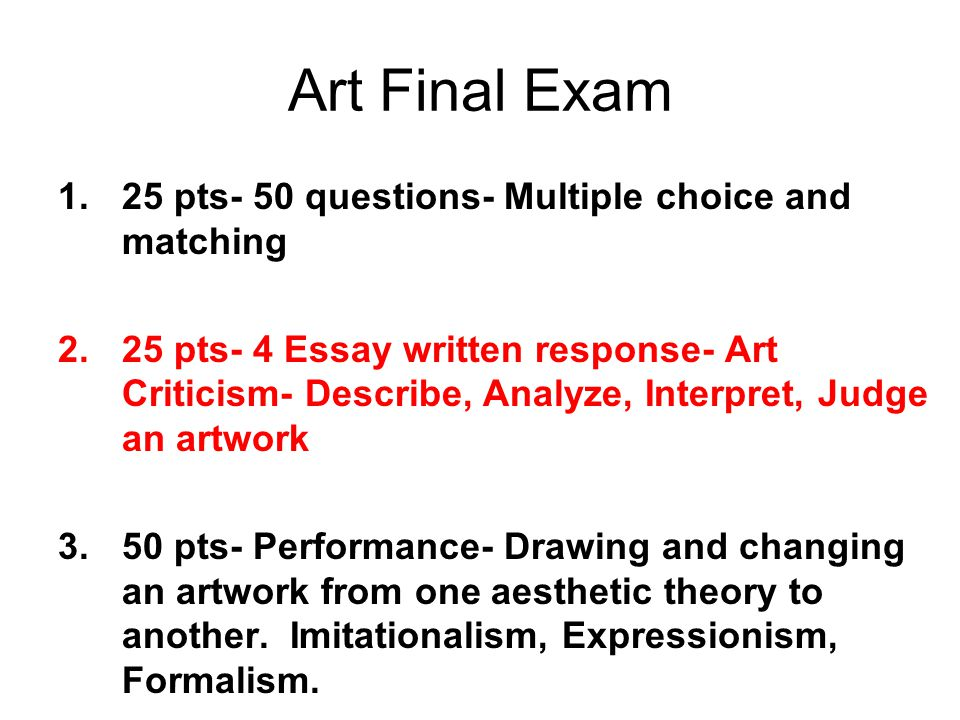 performance art essay questions Art Essay Samples
