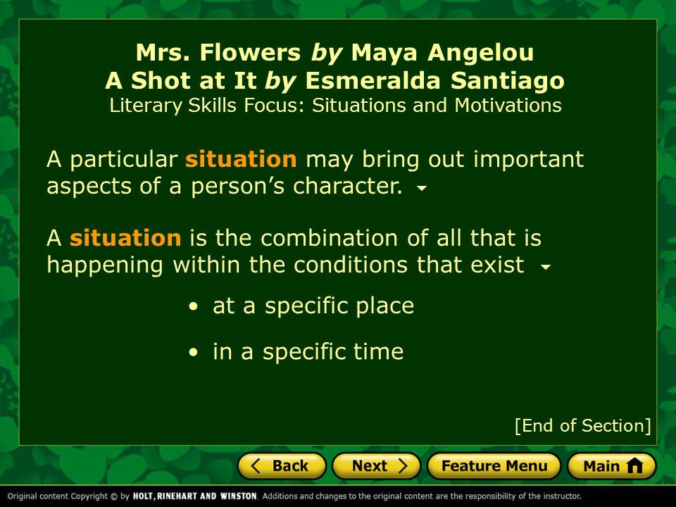 mrs flowers essay