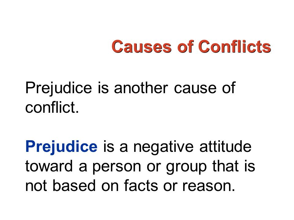 Attitude and group conflicts the nigerian