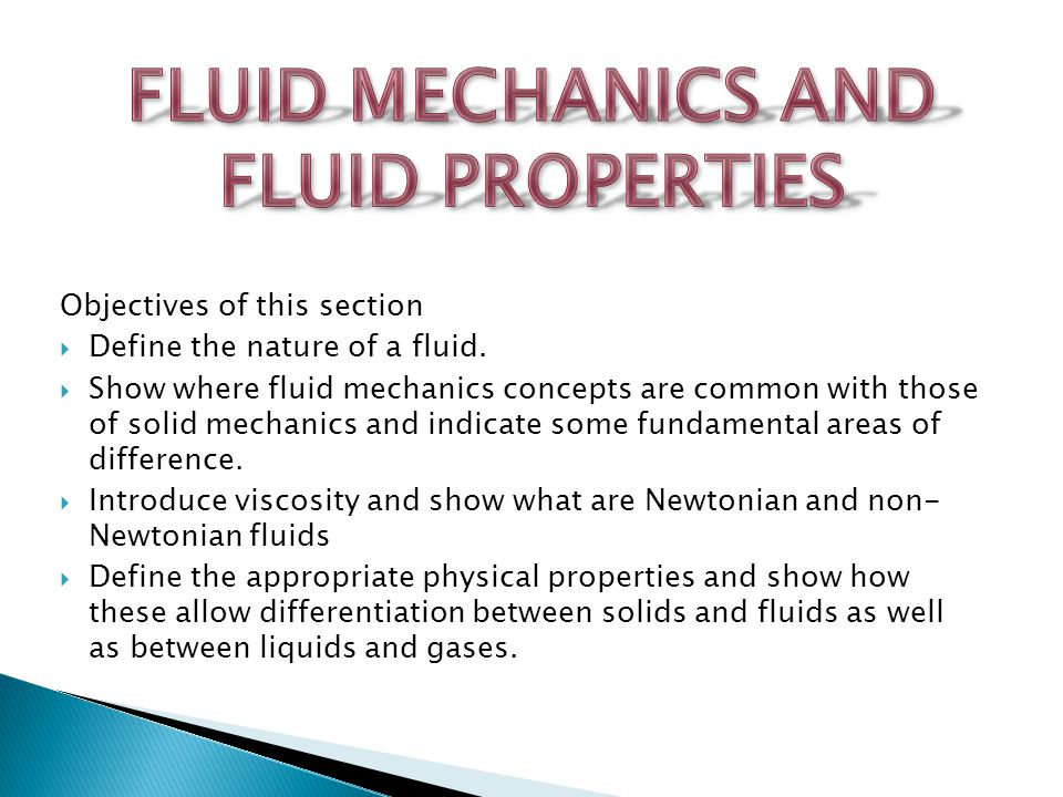 a description of fluid mechanics Fluid flow is a part of fluid mechanics and deals with fluid dynamics fluids such as gases and liquids in motion is called as fluid flow motion of a fluid subjected to unbalanced forces this motion continues as long as unbalanced forces are applied.