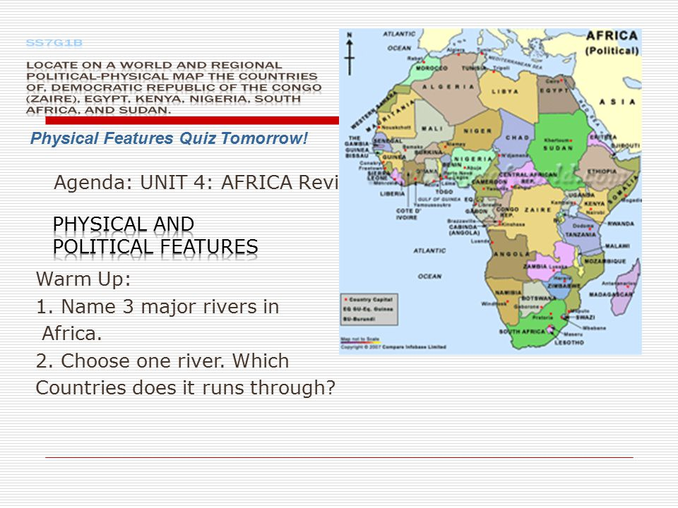PHYSICAL AND POLITICAL FEATURES Ppt Video Online Download - Main rivers in africa