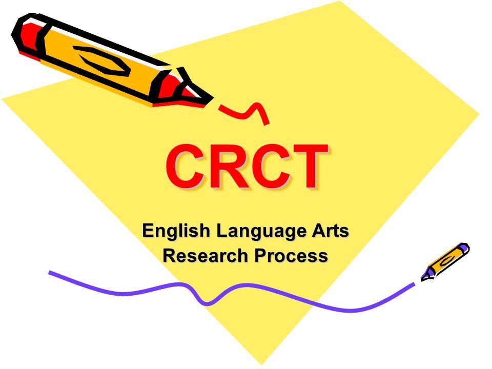English Language Arts Research Process