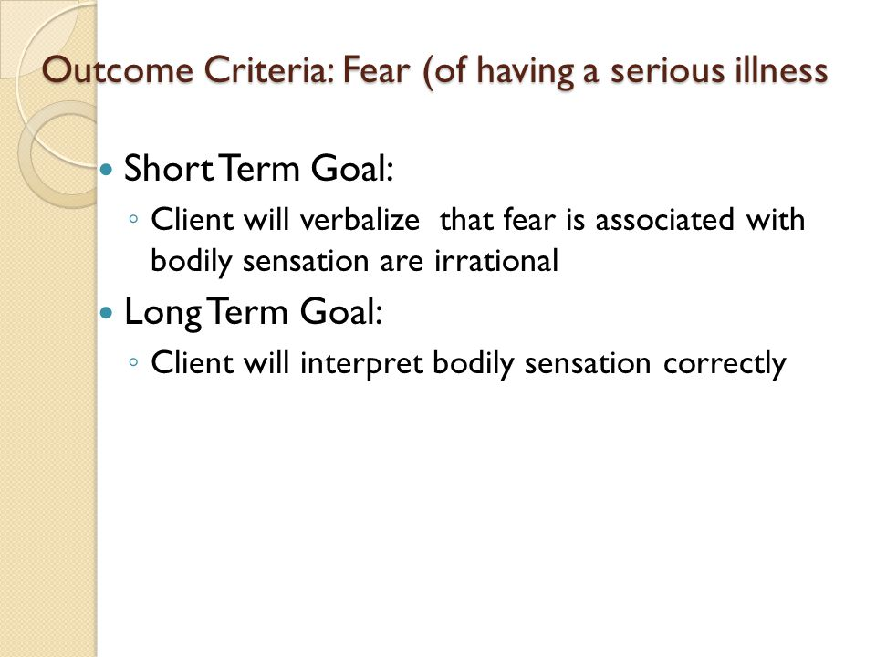 fear of outcome