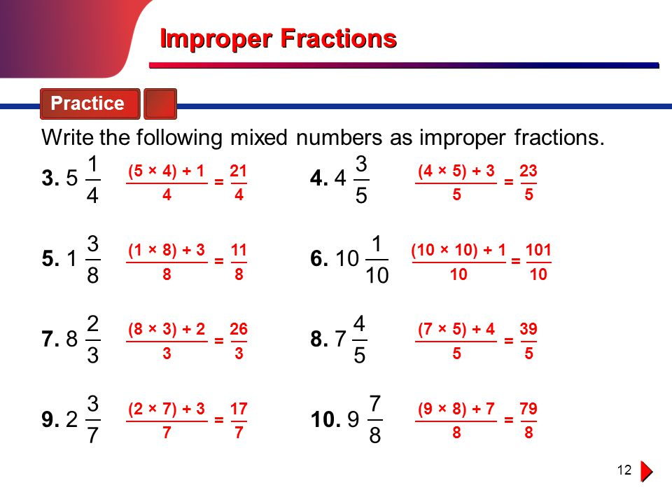 How do you write a fraction as a mixed number?