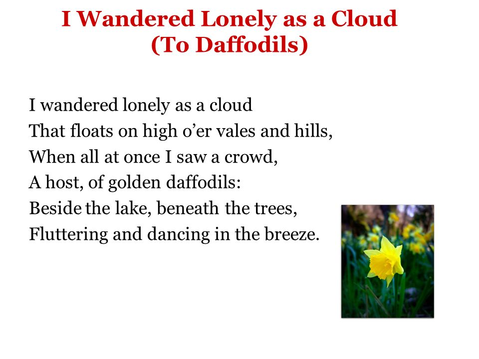 poem analysis of i wandered lonely as a cloud