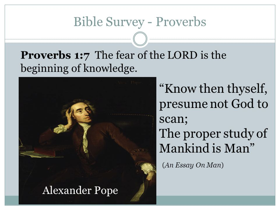 8 Bible Survey   Proverbs