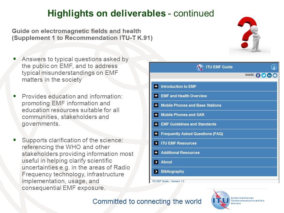 Highlights on deliverables - continued