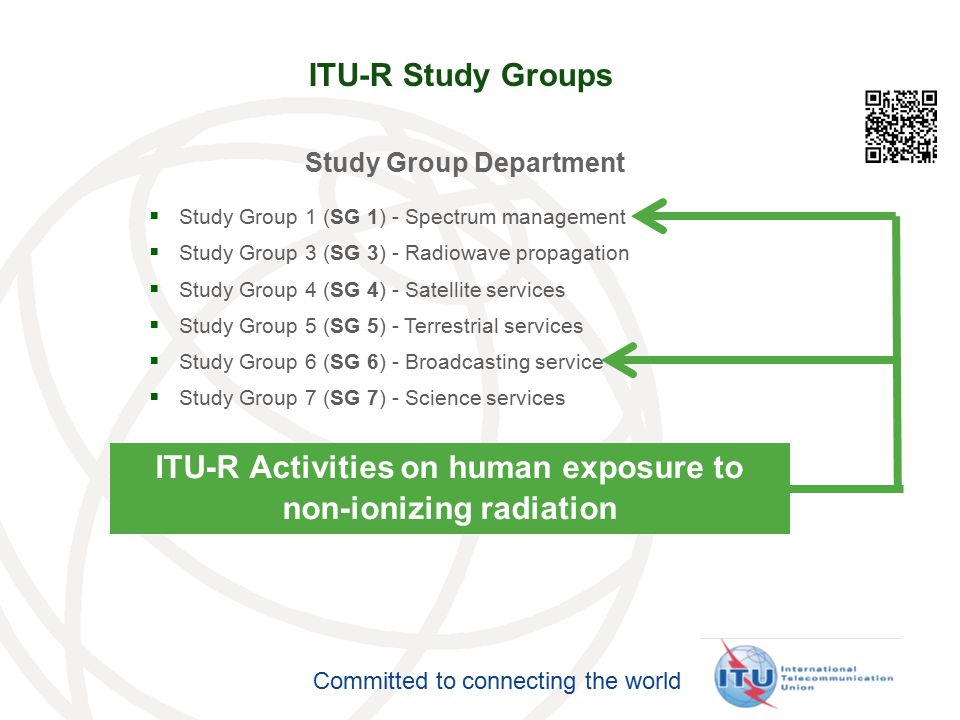 ITU-R Activities on human exposure to non-ionizing radiation