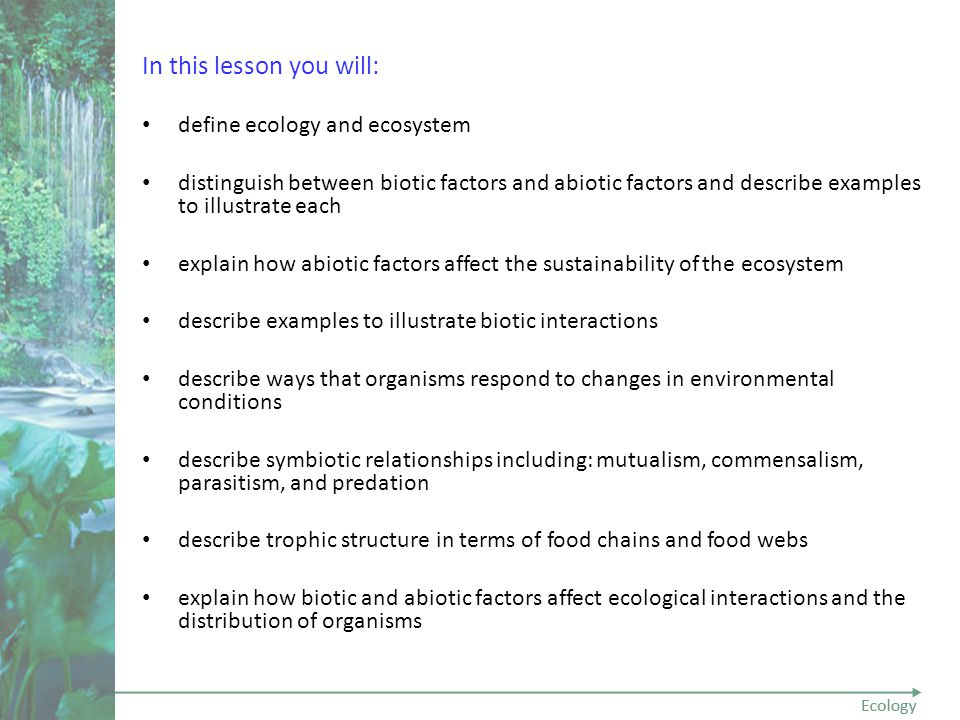 Unit 01 Section 02 Lesson 01 Ecology Ppt Video Online Download