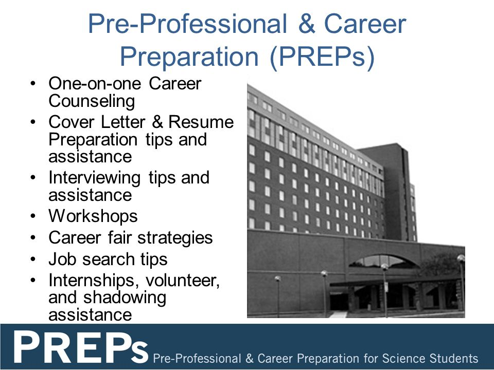 Career counseling resume preparation