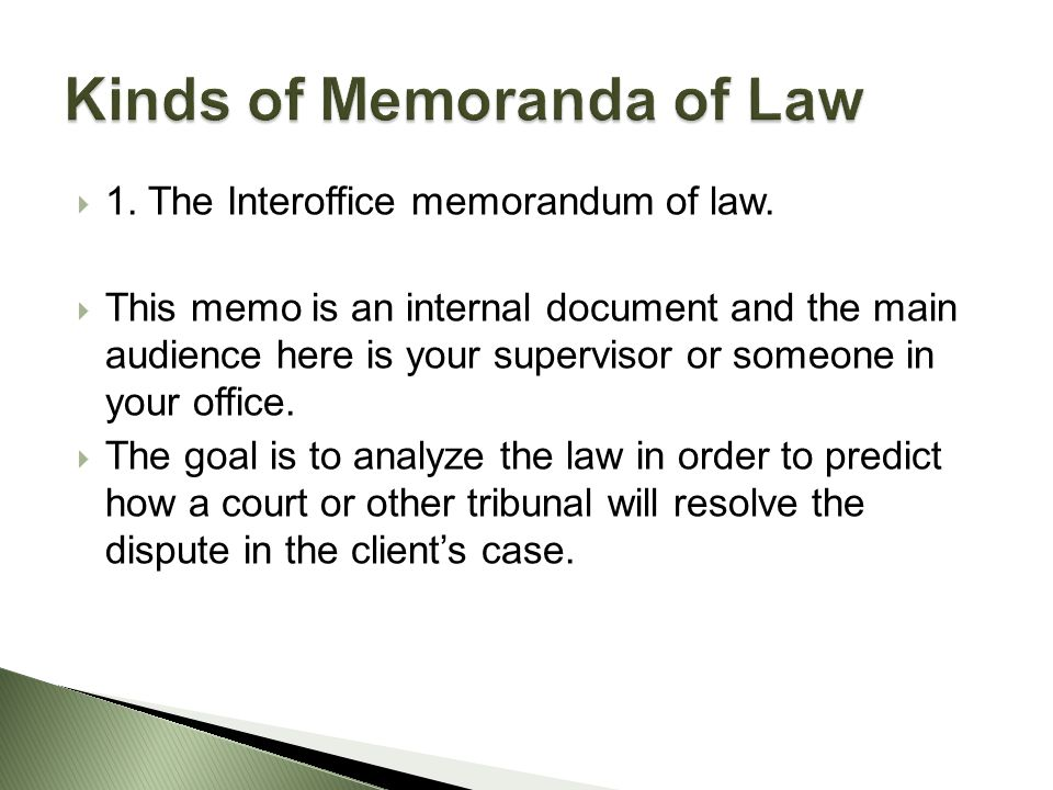 Chapter  The Legal Memorandum  Ppt Video Online Download