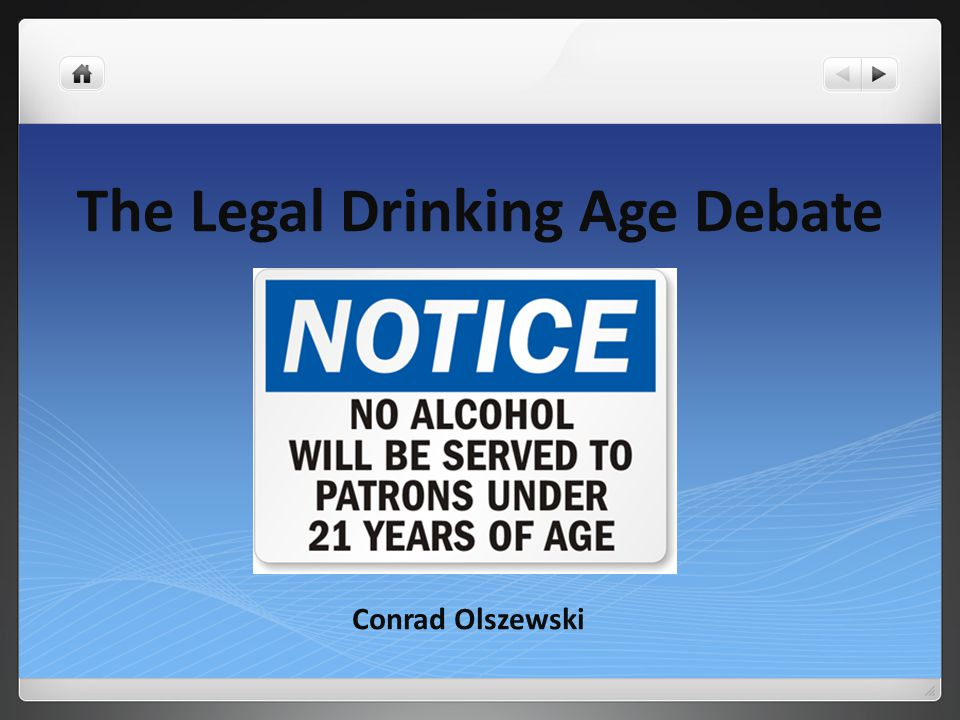A debate on the legal age