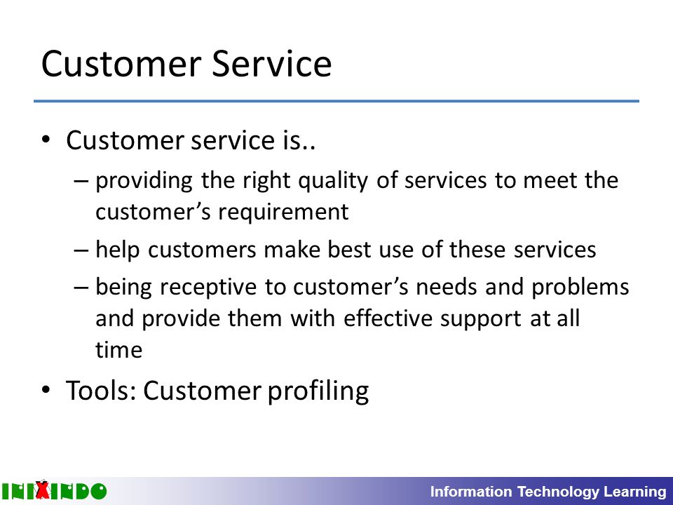 introduction to customer service Chapter 1: introduction to customer service 1 which of the following best describes customer service: a: the environment in which services are delivered.