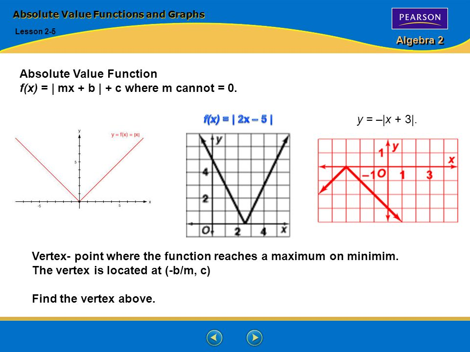 Absolute value functions and graphs ppt video online download absolute value functions and graphs ccuart Image collections