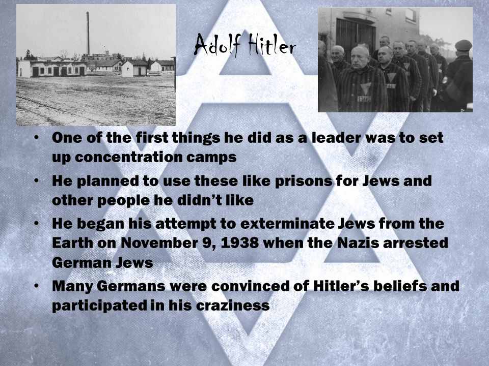 adolf hitler and the nazi regime concentration camps for the jews and inferior german races After adolf hitler rose to power he began to  their parents would be slaughtered in nazi concentration camps  with the so-called inferior races being.