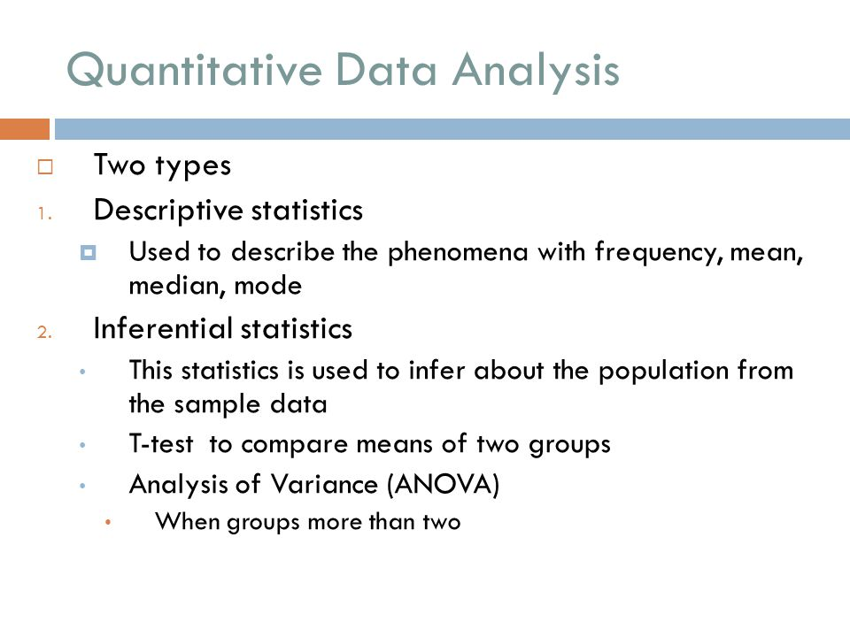 quantitative data analysis