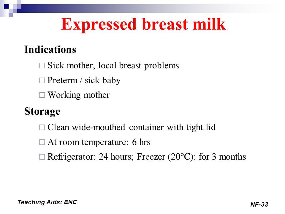 Expressed Milk Storage Room Temperature