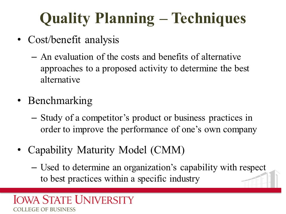 Quality Planning – Techniques