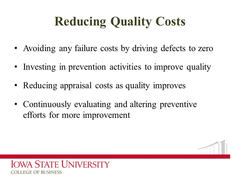 Reducing Quality Costs
